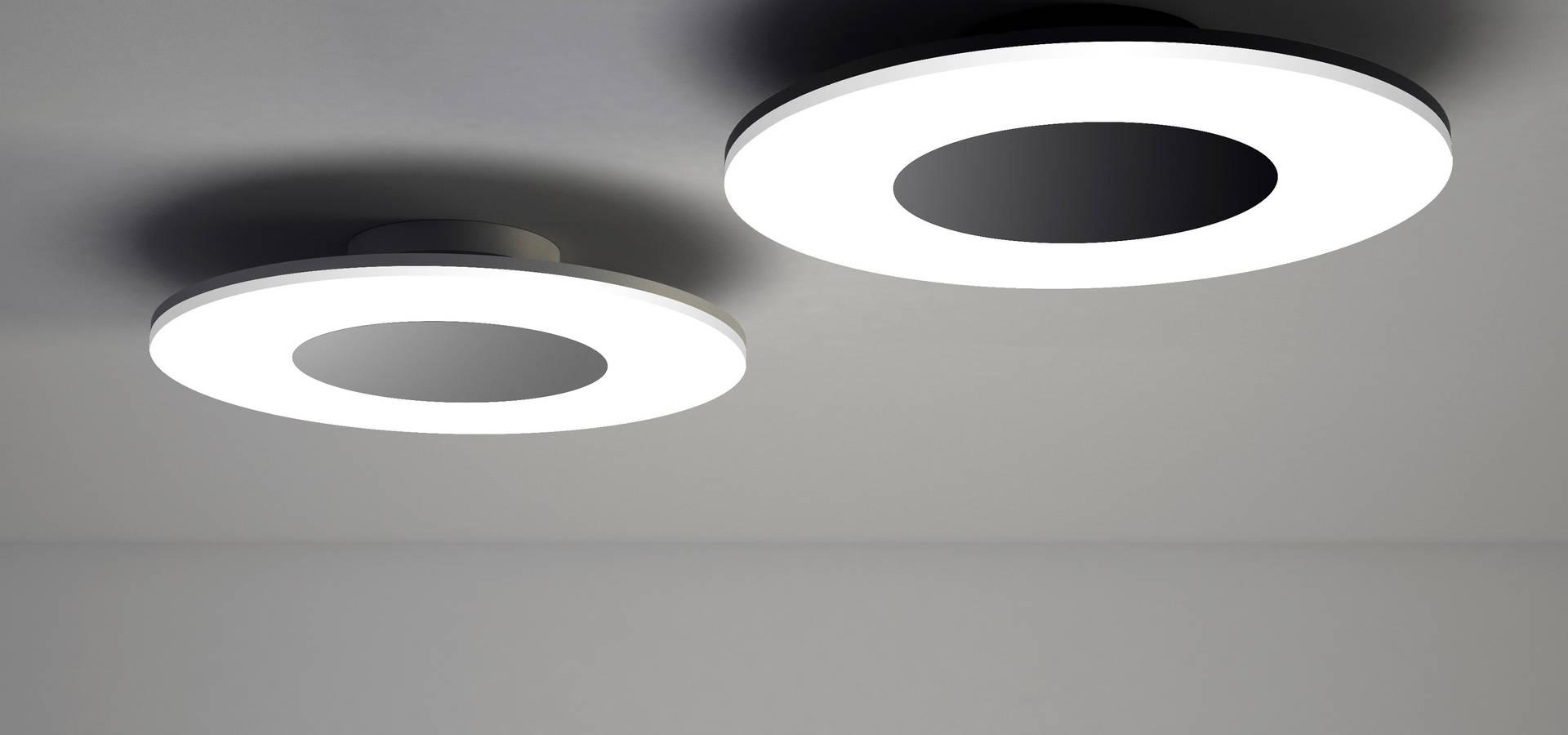 Collection design discobolo suspension plafonnier led - Lamparas led salon ...