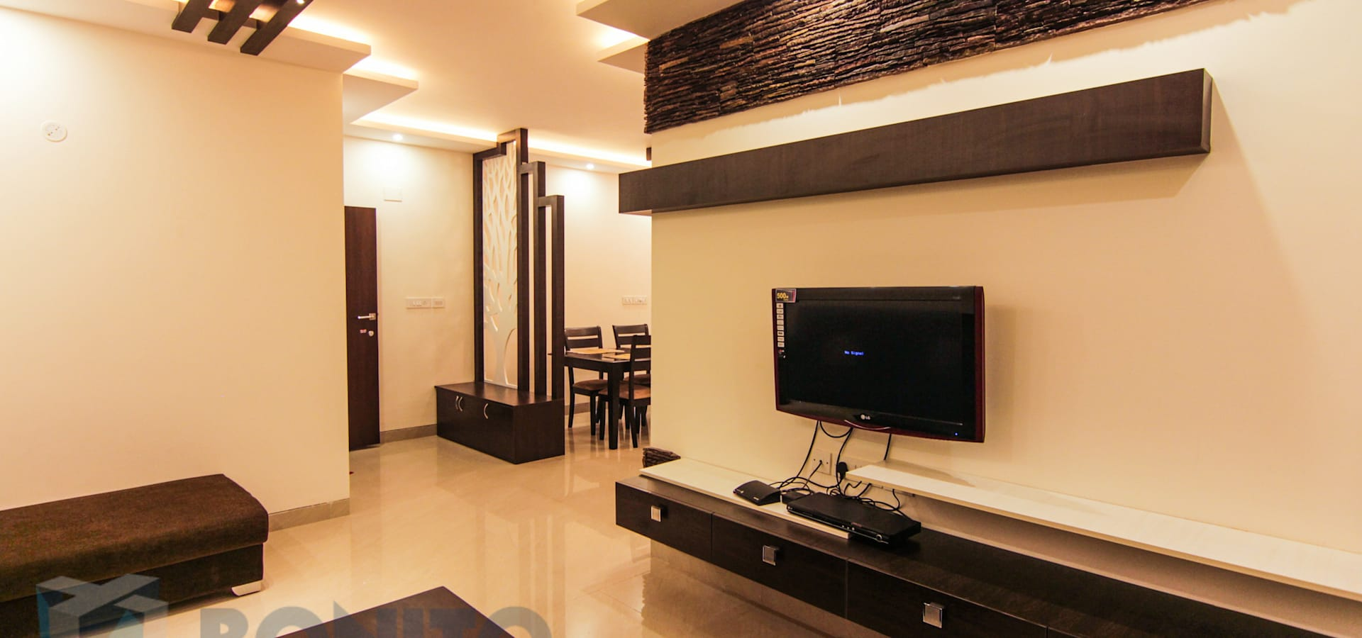 Mr Prasanth Shetty Apartment Interiors By Bonito Designs