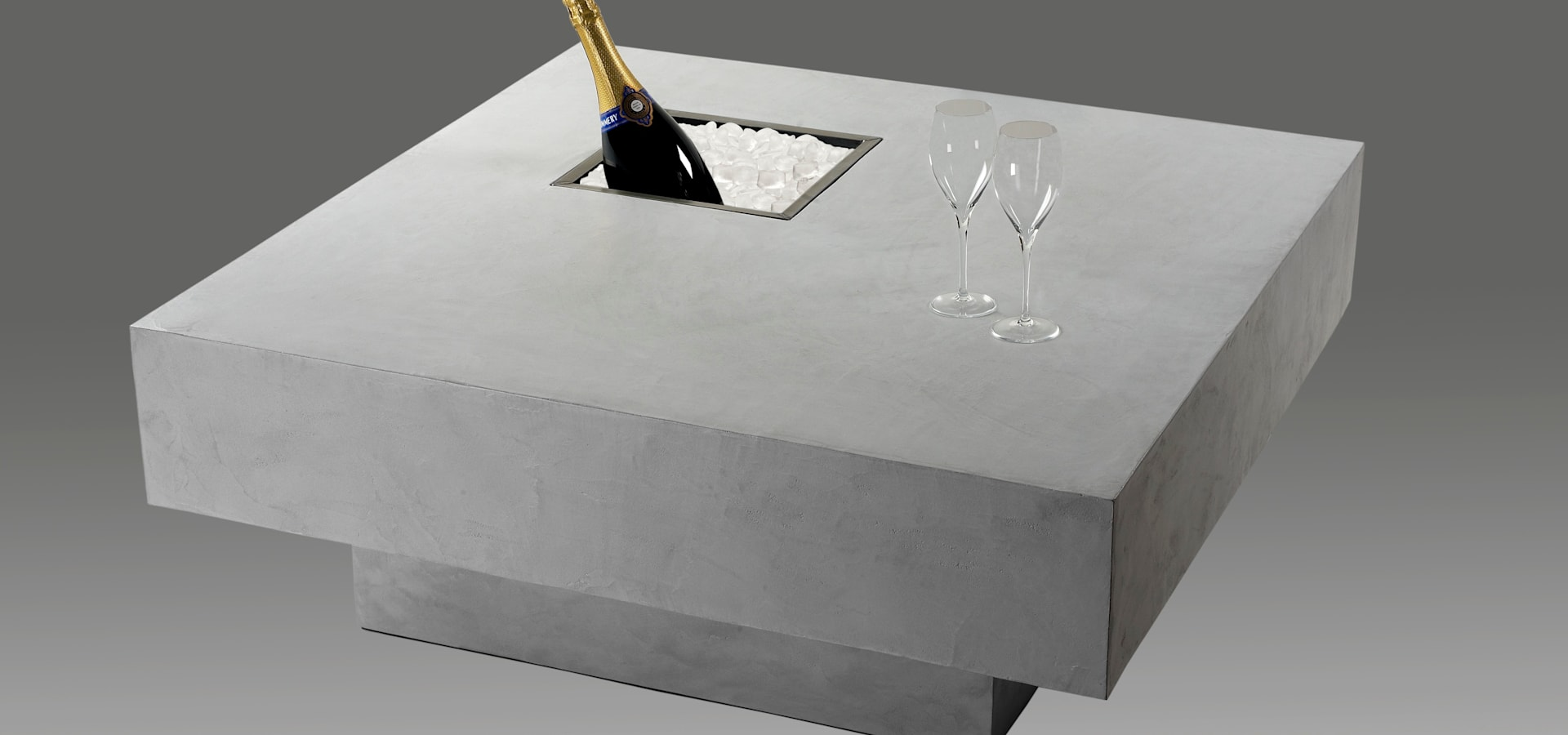 Table bari avec chemin e l 39 thanol by interieur - Table teck exterieur ...