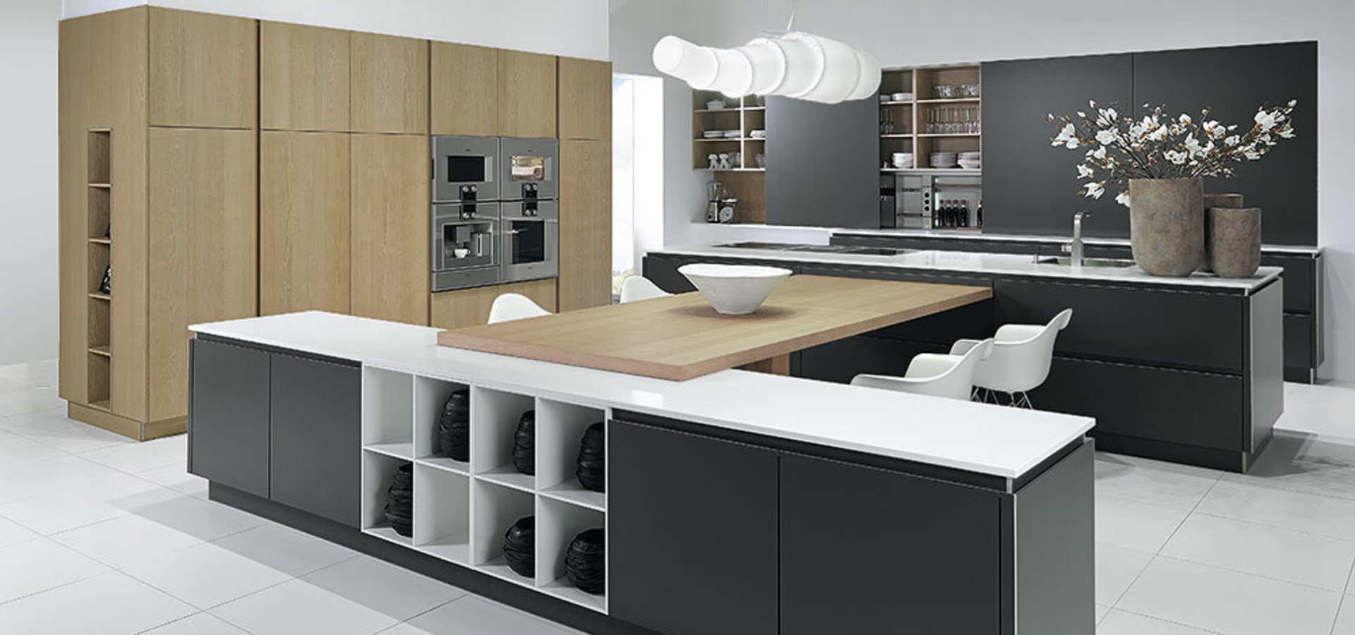 pronorm einbauk chen gmbh x line klassisch grifflos homify. Black Bedroom Furniture Sets. Home Design Ideas