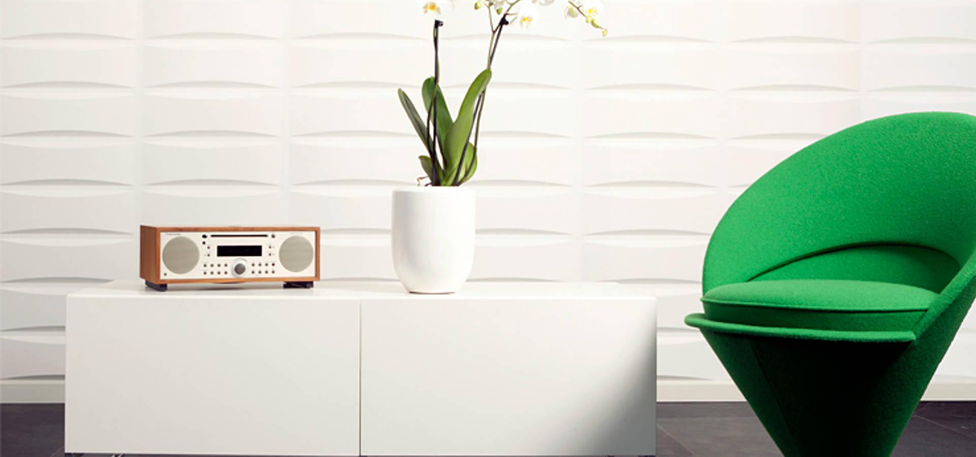 Paneles 3d bamboo de paneles de pared homify for Paneles acrilicos para paredes