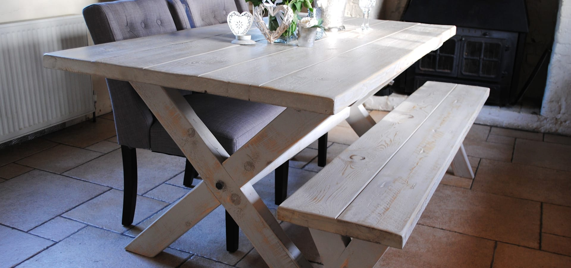 X Frame Bespoke Dining Tables To Order By Dove And Grey