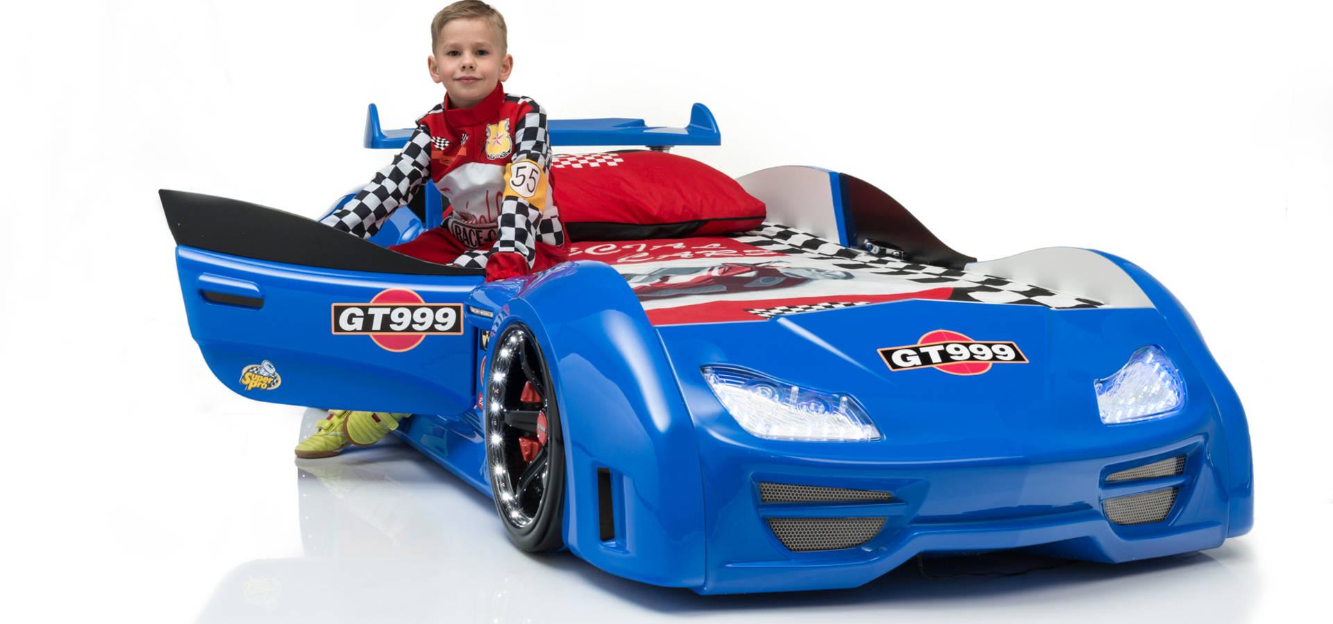 Autobett Gran Torino GT 999 Blau mit Türen inkl. LED Spiegel ...