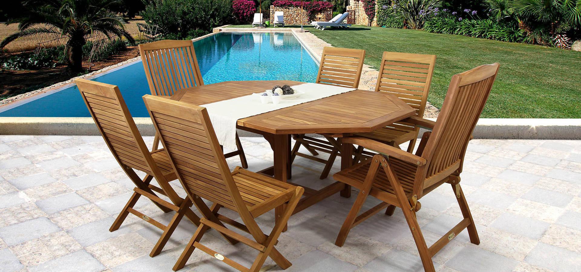 Muebles de teca de syd muebles de jardin homify - Muebles de teca ...