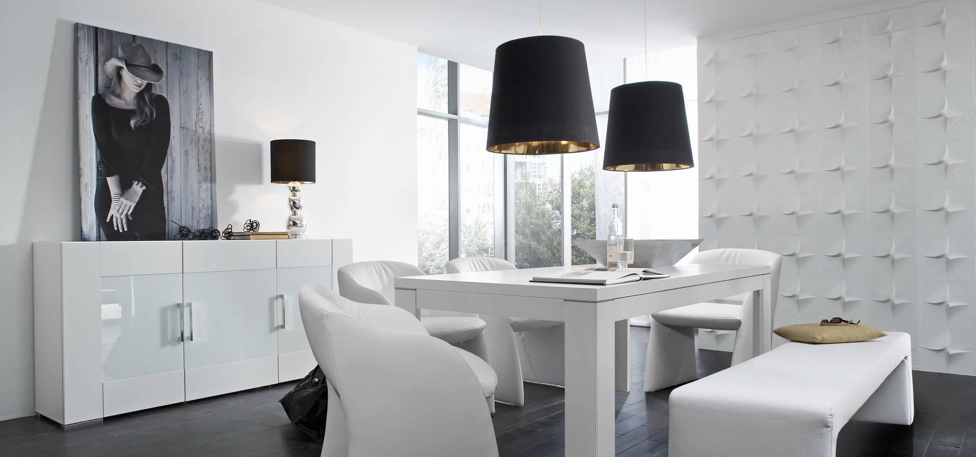 Mesa de comedor blanco de livingo espa a homify for Tapizados de sillas modernas