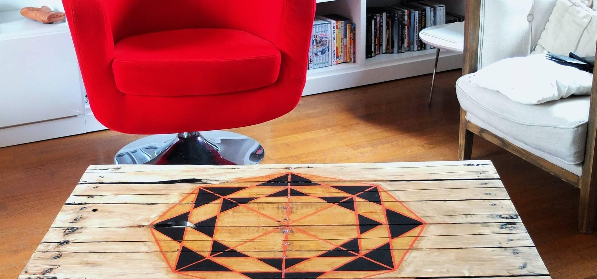 Table Basse Originale Esprit R Cup Et Tendance G Om Trique Par  # Table Basse Recup