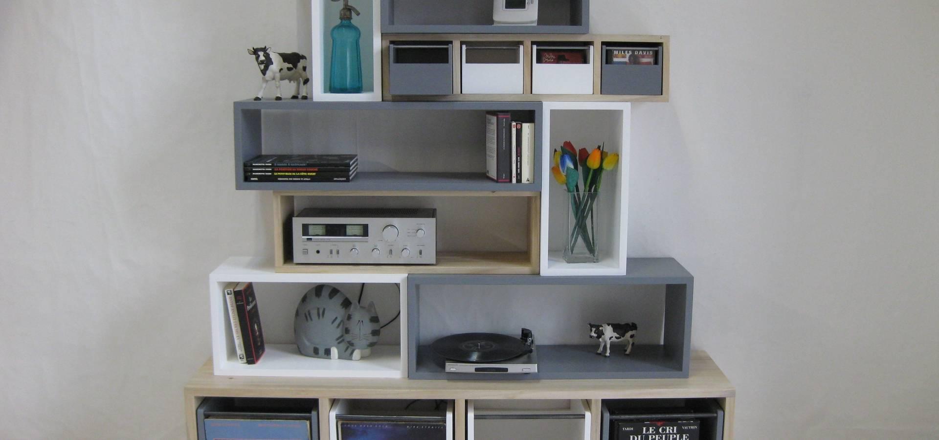 Banc d 39 entr e design bois color di lartelier homify - Banc d entree design ...