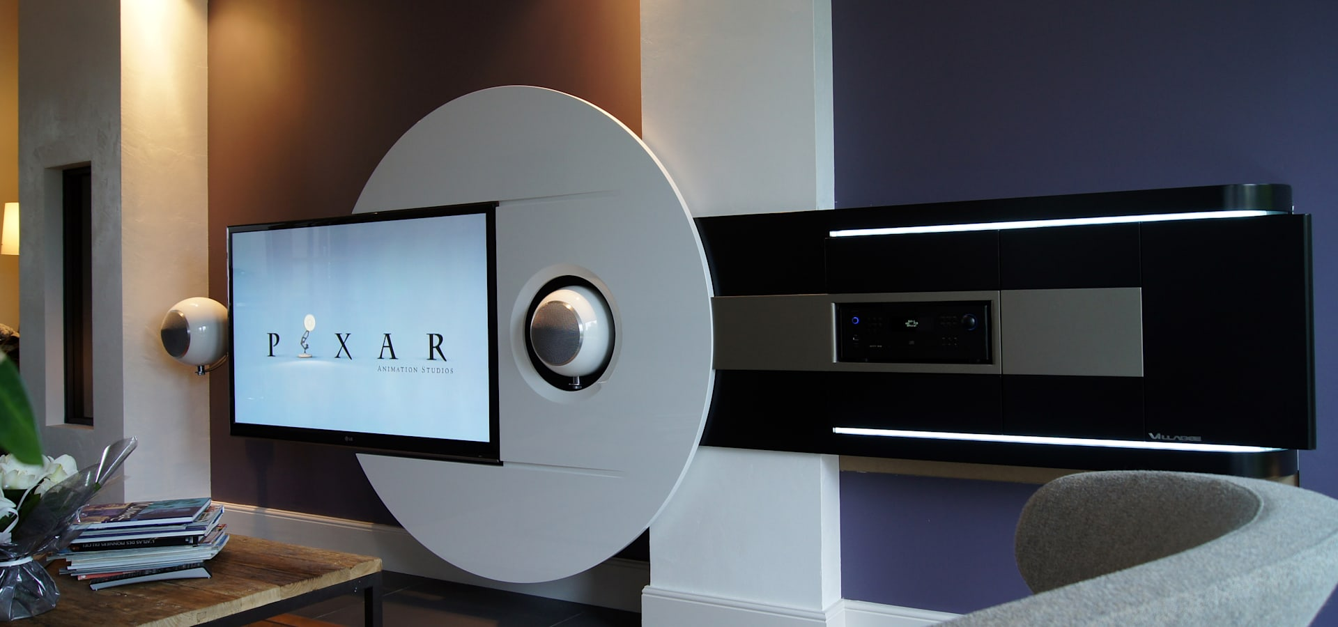 meuble multim dia by chris b design homify. Black Bedroom Furniture Sets. Home Design Ideas