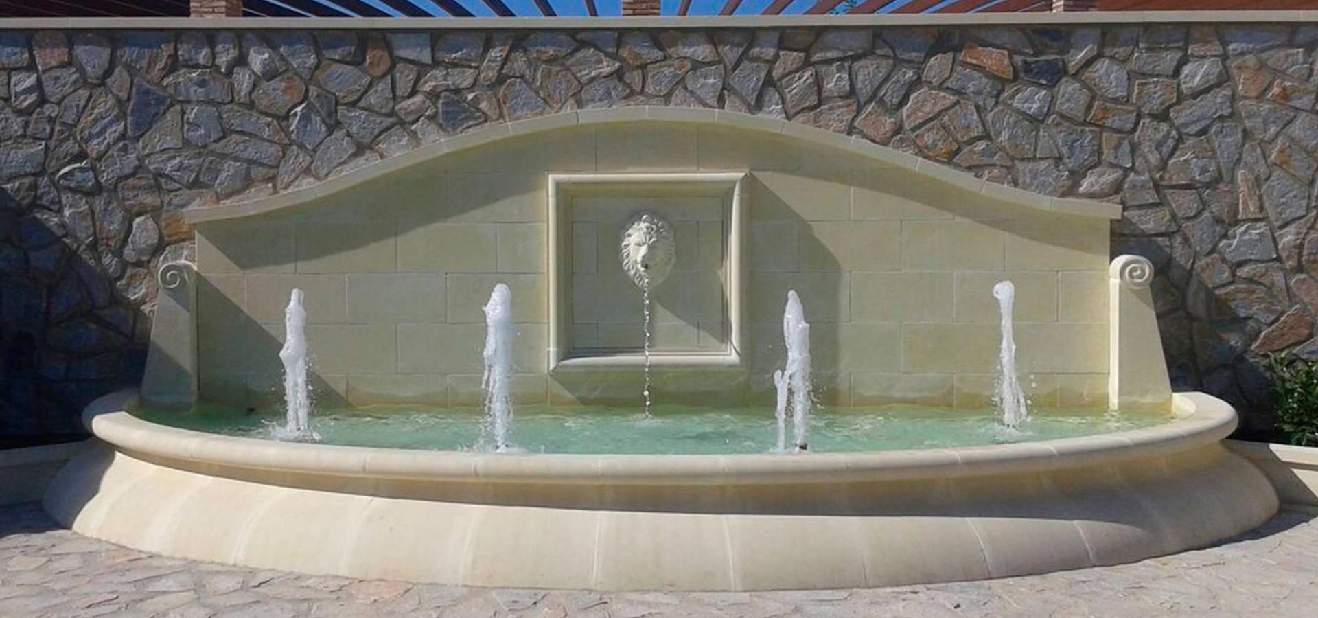 Fuentes Ornamentales De Piedra Artistica Artificial Sl Homify - Fuentes-de-piedra-de-pared