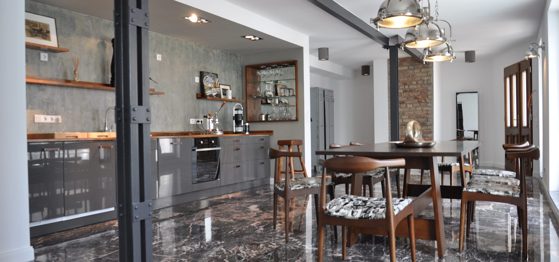 wohnzimmer im industrial glamour 130m² loft im stil der 20er jahre, Badezimmer ideen