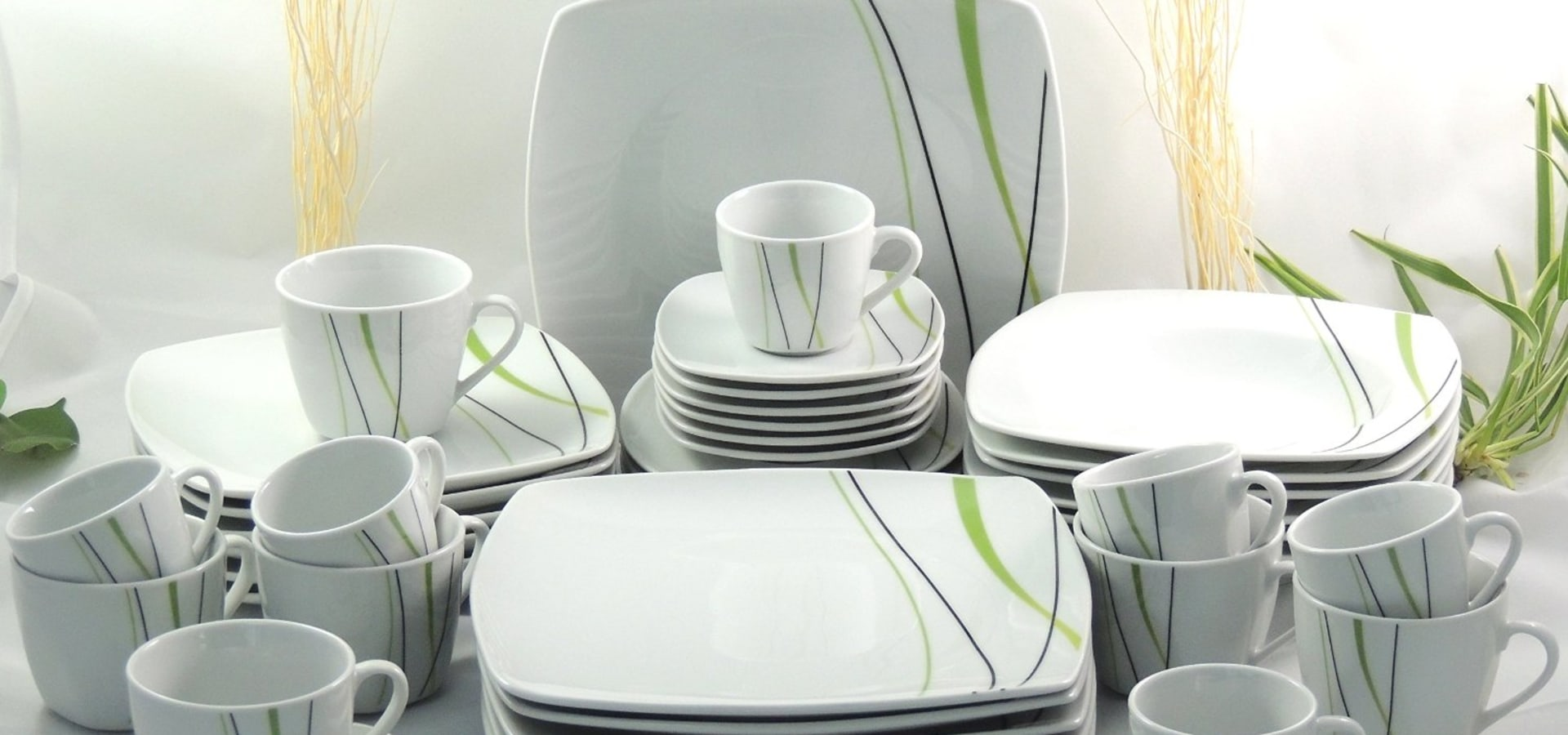 porzellan tafelservice essservice kombiservice 30tlg tk 972 malia ann di ciel porzellan glas e. Black Bedroom Furniture Sets. Home Design Ideas