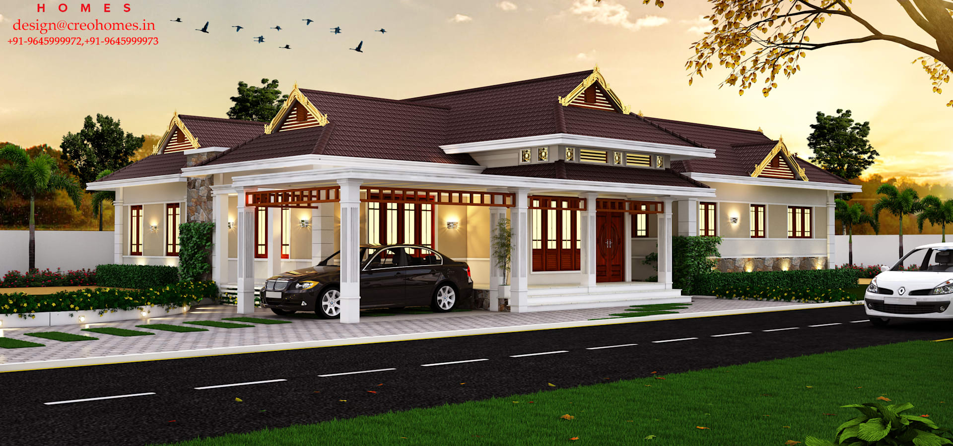 Homify for Veedu elevation