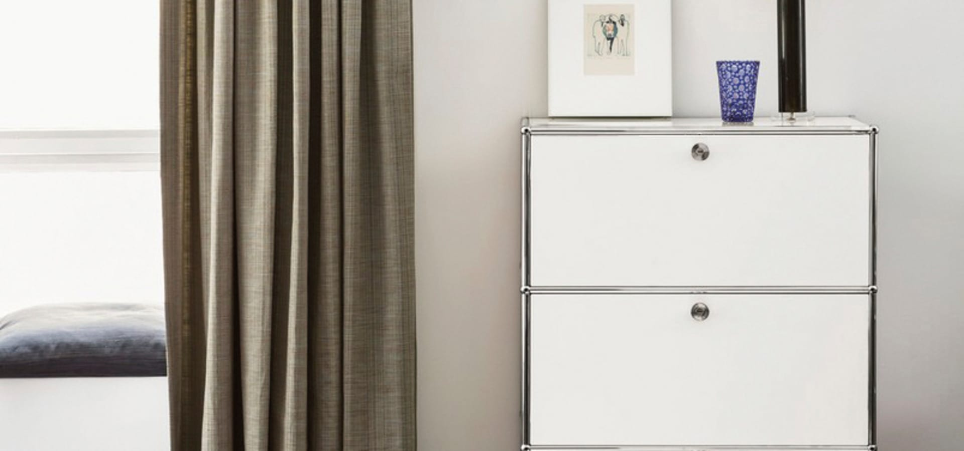 Usm haller highboard mit 3 klappen von wohn design by blow for Blow out karlsruhe