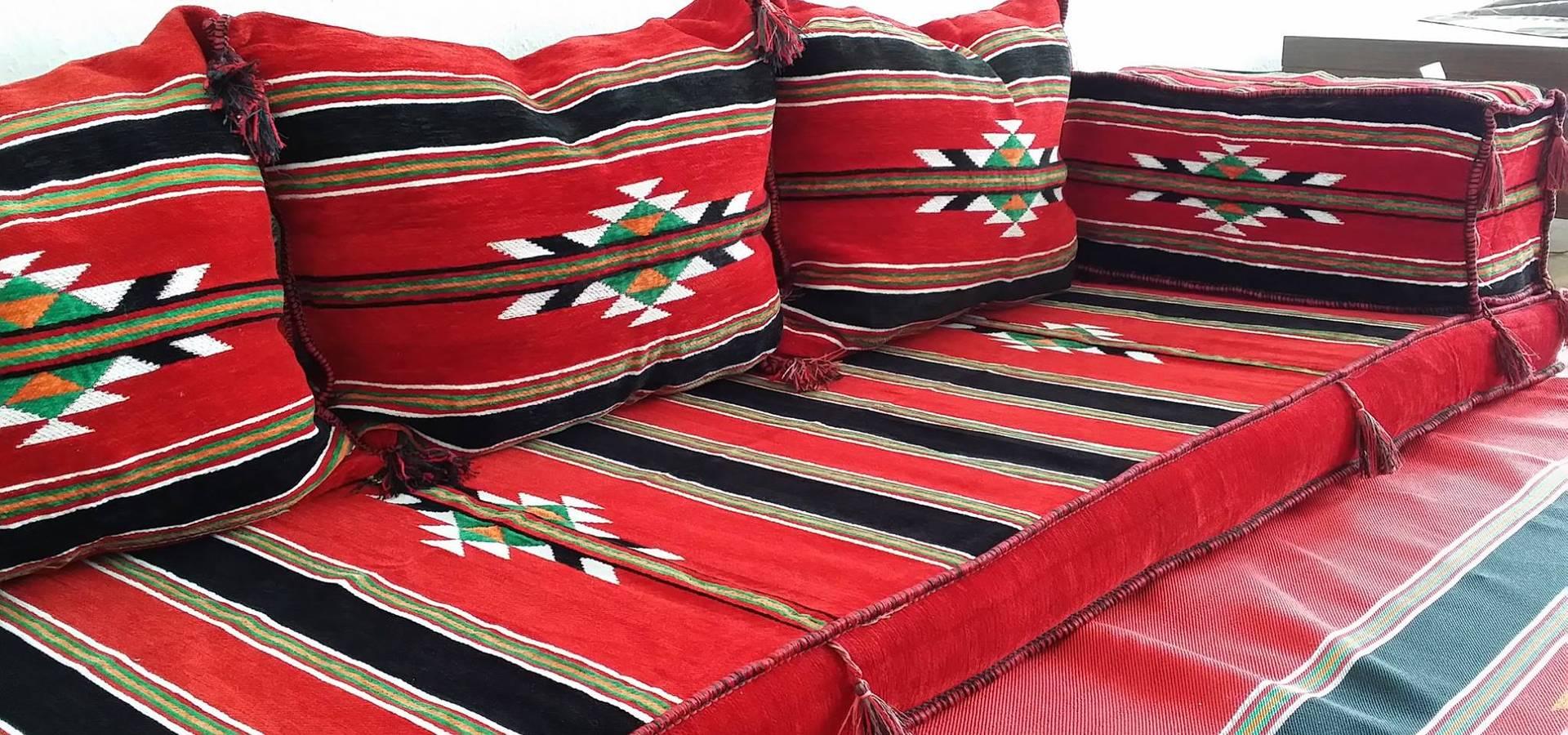 orientalische sitzecken orientalische sitzgarnitur 5 teiliges set komplett traditionell rot von. Black Bedroom Furniture Sets. Home Design Ideas