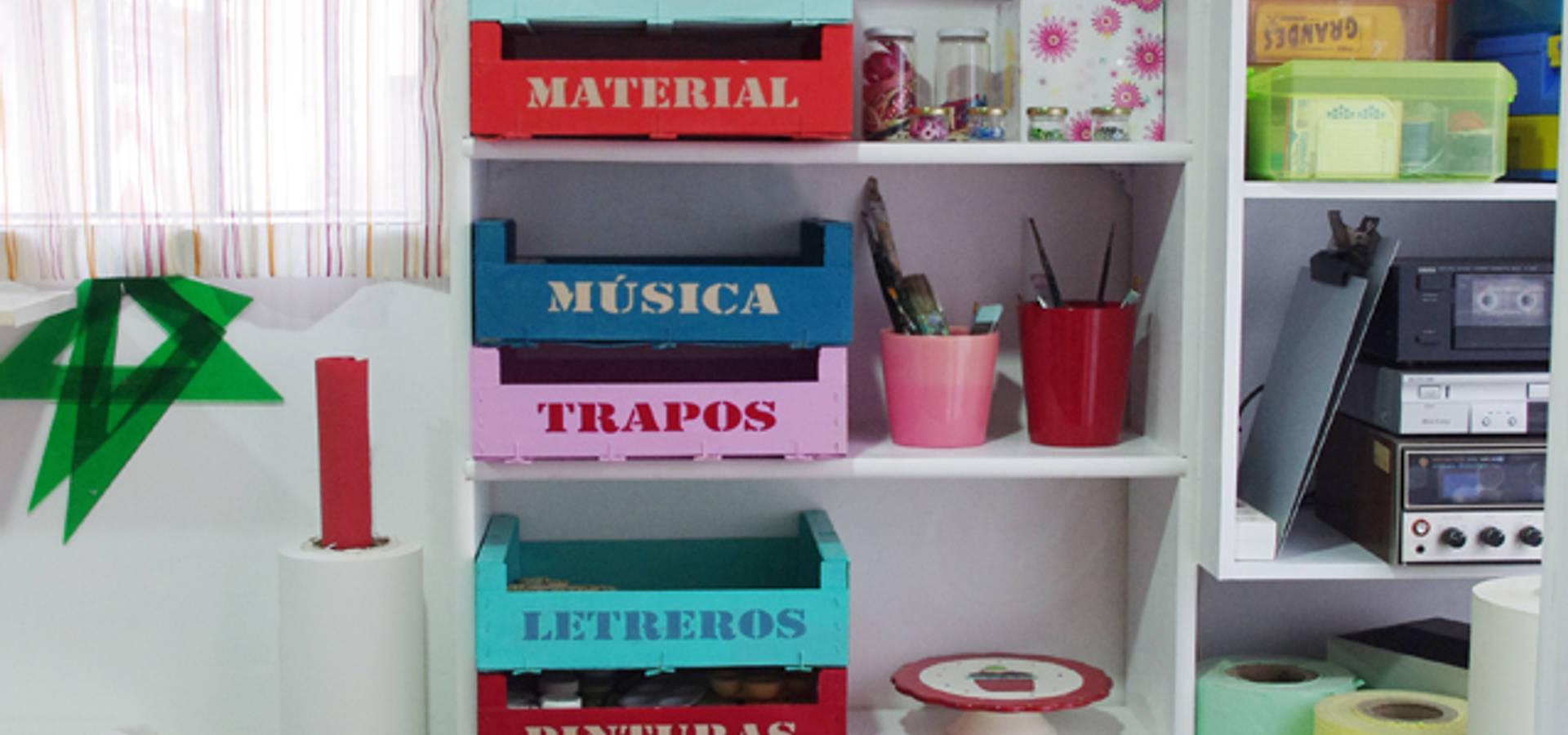 Estanter as con cajas de fruta de 613materika homify - Estanterias con cajas de fruta ...