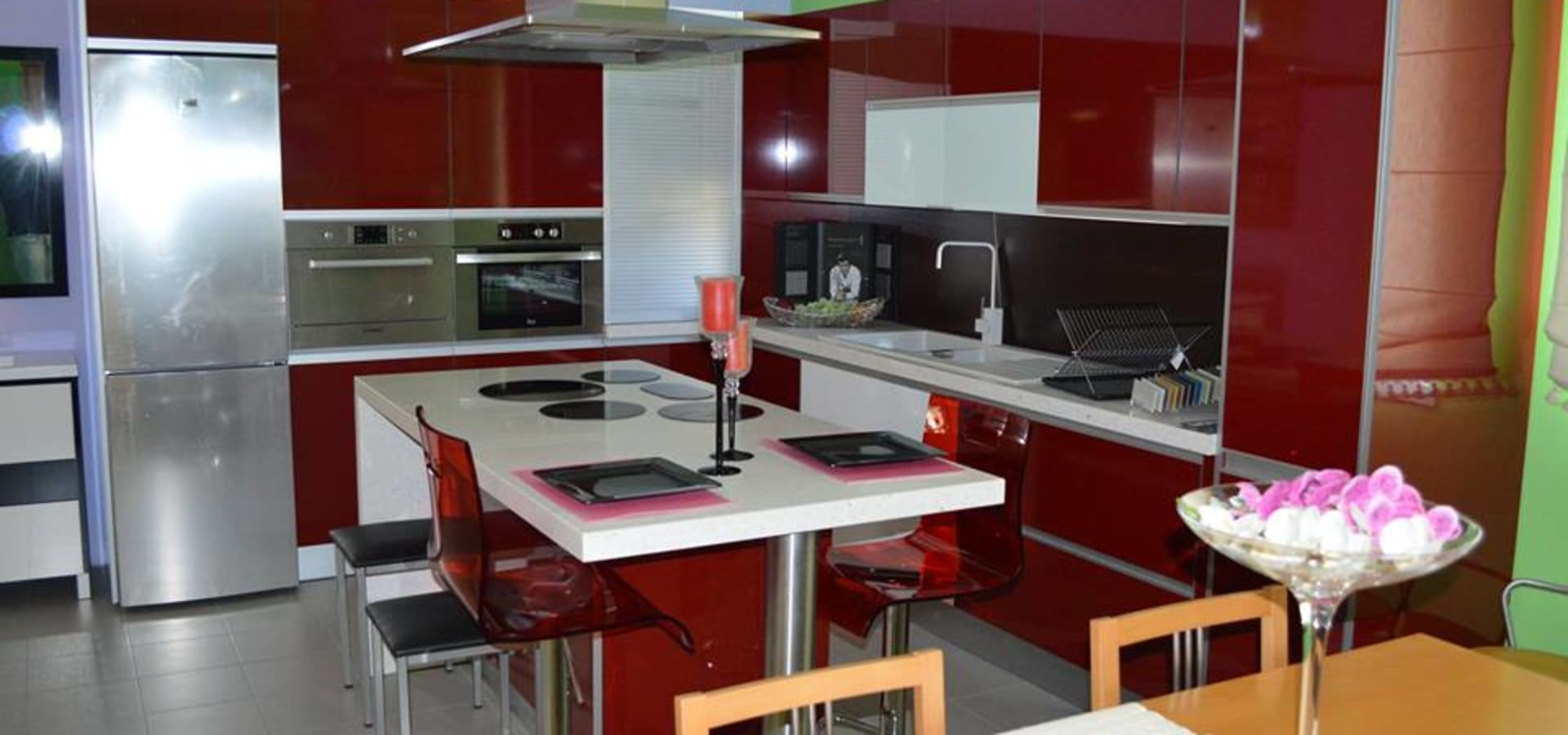 Cozinha Em Termolaminado Com Ilha Por Ansidecor Homify