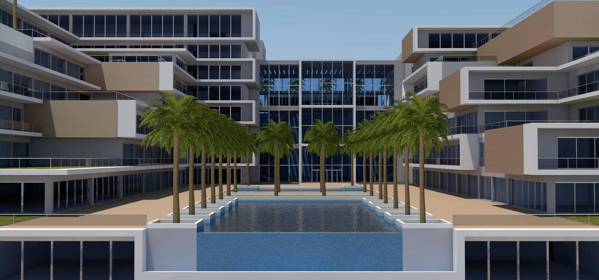 Gabinete de arquitetura 3D