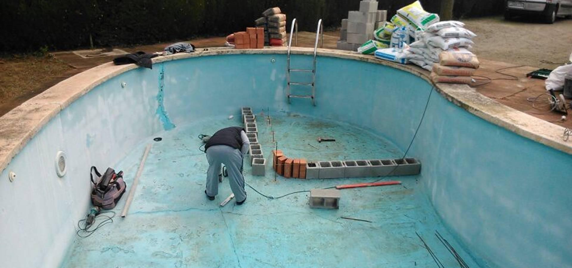 Renovaci n de piscina con sistema de l mina armada de pvc for Piscinas desmontables de pvc