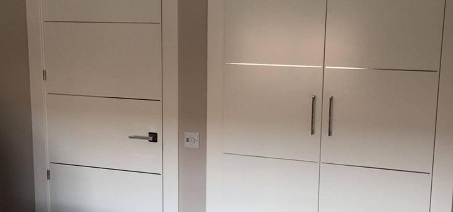 Puertas lacadas blancas en Madrid de Maderas y Chapas | homify