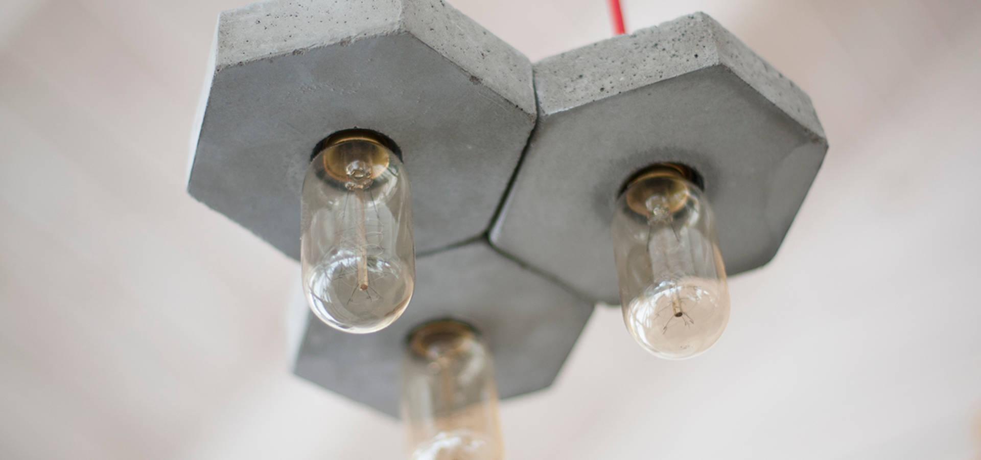 Креативные светильники из бетона и дерева – Bullsdesign