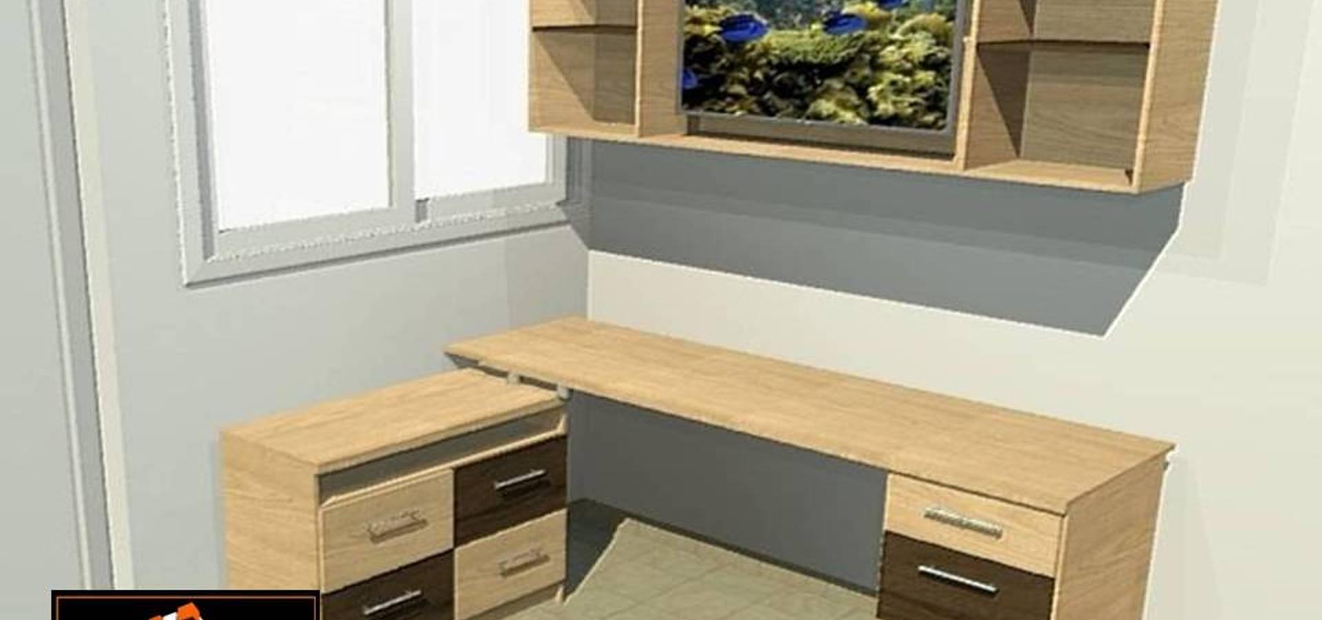 Centro De Estudio De A Tu Medida Muebles Modulares Homify # Muebles Modulares