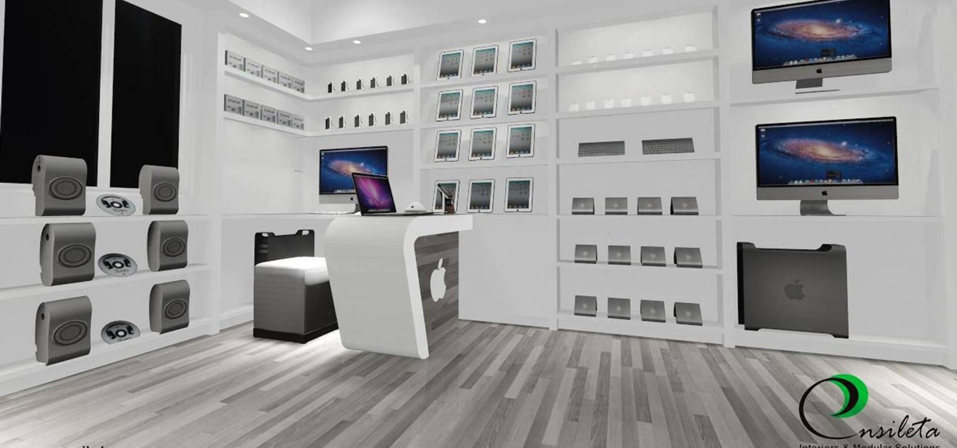 Ensileta Interiors and Modular Solutions