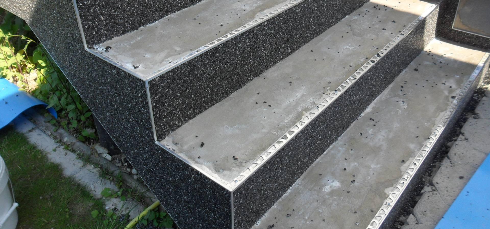 treppenrenovierung mit steinteppich im au enbereich von steinteppich verlegen homify. Black Bedroom Furniture Sets. Home Design Ideas