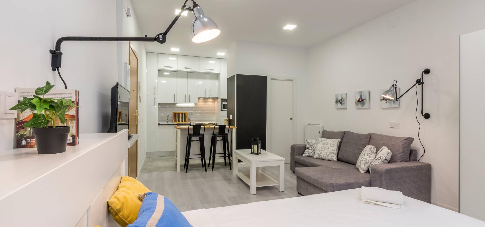 Moderno y acogedor interiorismo y home staging en - Home staging barcelona ...