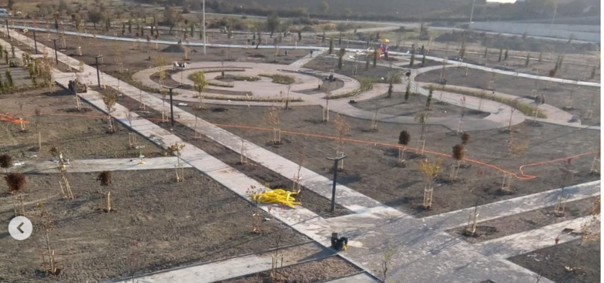 modern park peyzaj