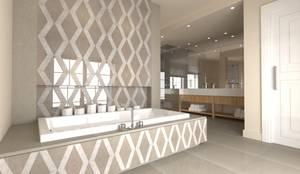 Baños de estilo moderno de MyWholeDesign