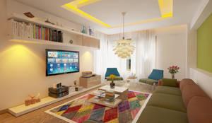 İNDEKSA Mimarlık İç Mimarlık İnşaat Taahüt Ltd.Şti. - İNDEKSA İÇ MİMARLIK: modern tarz Oturma Odası