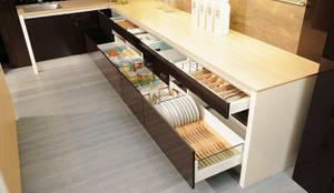 Projekty, translation missing: pl.style.kuchnia.nowoczesny Kuchnia zaprojektowane przez DanKüchen Studio Hengelo