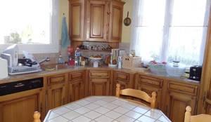 les cuisines de claudine: rustik tarz tarz Mutfak