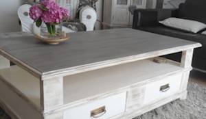 table basse patin e d co bord de mer brocante relooking cm homedeco par cm homedeco homify. Black Bedroom Furniture Sets. Home Design Ideas