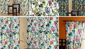 rideaux double rideaux stores couettes coussins tissus ameublement motifs d 39 oiseaux avec. Black Bedroom Furniture Sets. Home Design Ideas