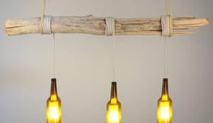 Hängelampe aus Treibholzstück von Meister Lampe  homify