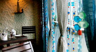 Memories of a Butterfly: bead curtains/screens/installations/Hanging Sculptures
