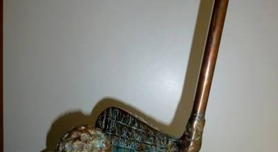 ROJO  Sculpture cuivre bronze