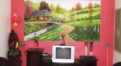 Ben wall mural art