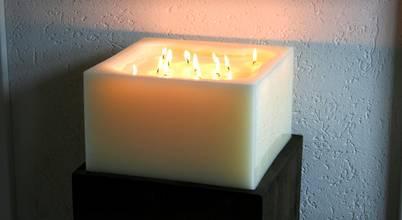 Polarlichter-Kerzen