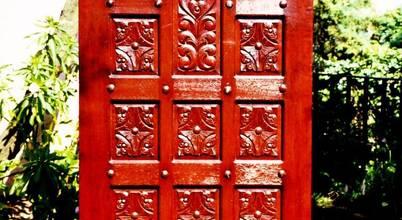 Puerta de fibra de vidrio imitacion madera