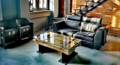 STUDIO OSHEI - stoły, ławy z litego drewna, designerskie meble industrialne.