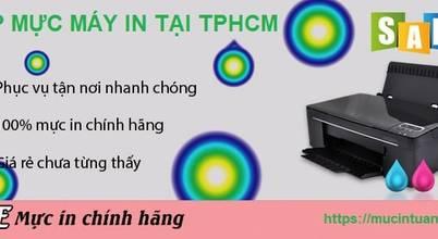 Nạp mực máy in giá rẻ tại TpHCM - Mực In Tuấn Long