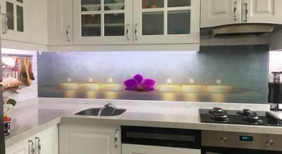 3D Mutfak tezgah arası cam