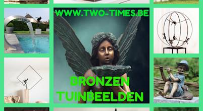 TWO TIMES BRONZEN TUINBEELDEN