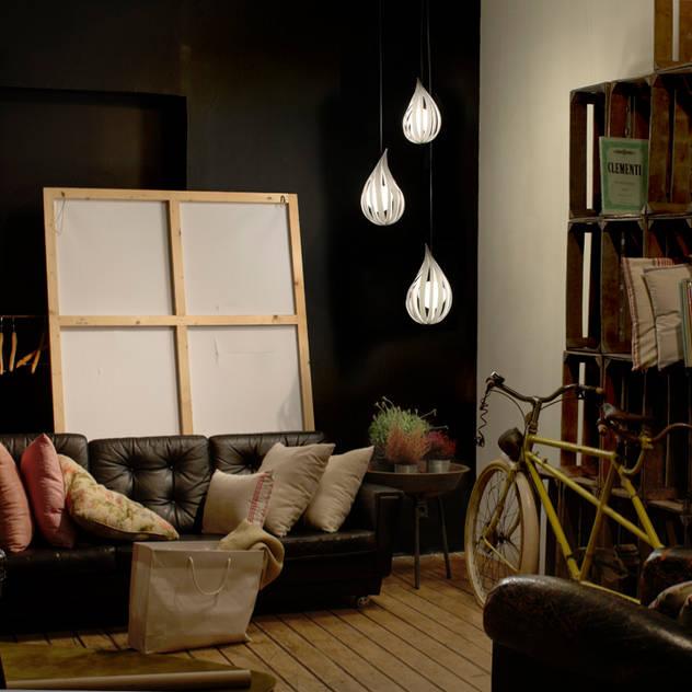 Raindrop Clusters / LZF Lamps: Salones de estilo de Javier Herrero* Studio