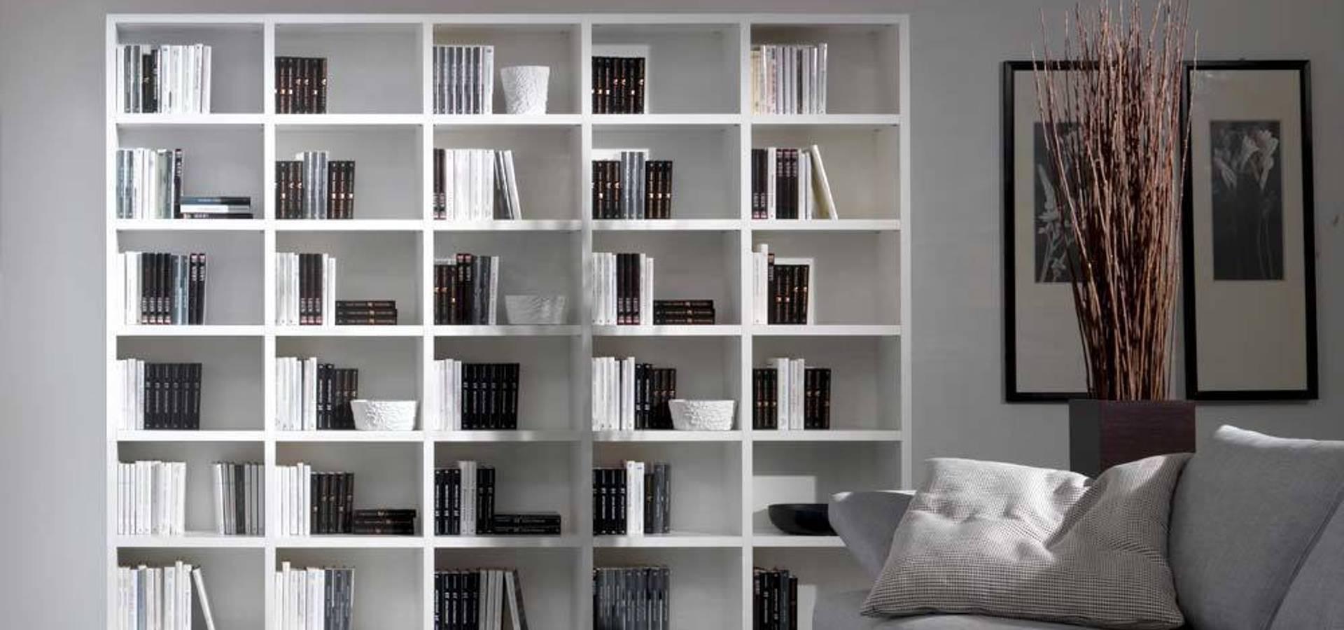 Libreria componibile in nobilitato mod systema di for Libreria angolare componibile