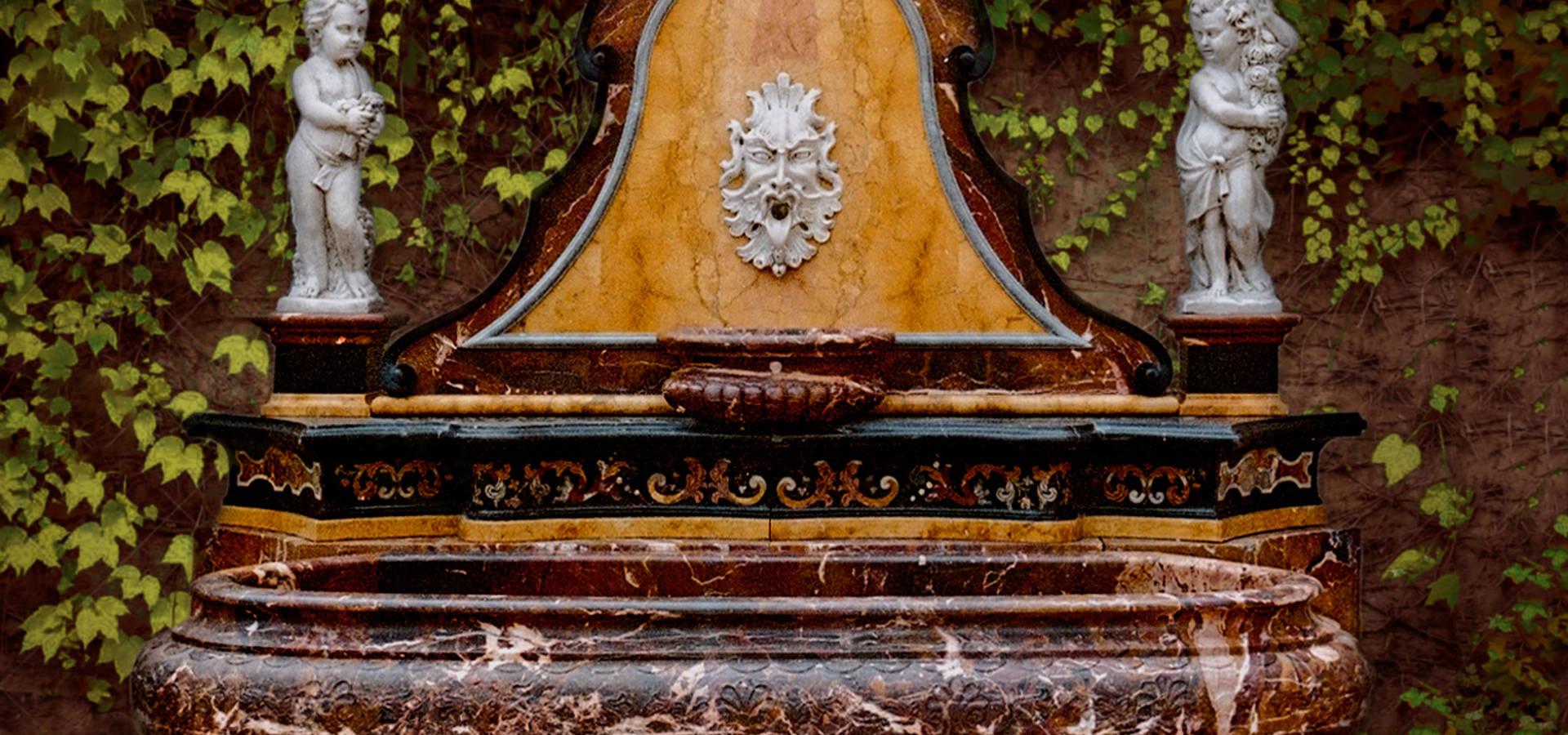 Lavabo da bagno in marmo cappuccino mod nautilus di for Fontana arredi valderice