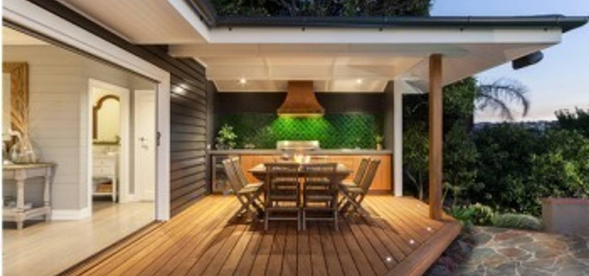 дизайн закрытого крыльца частного дома фото современных дворов #9