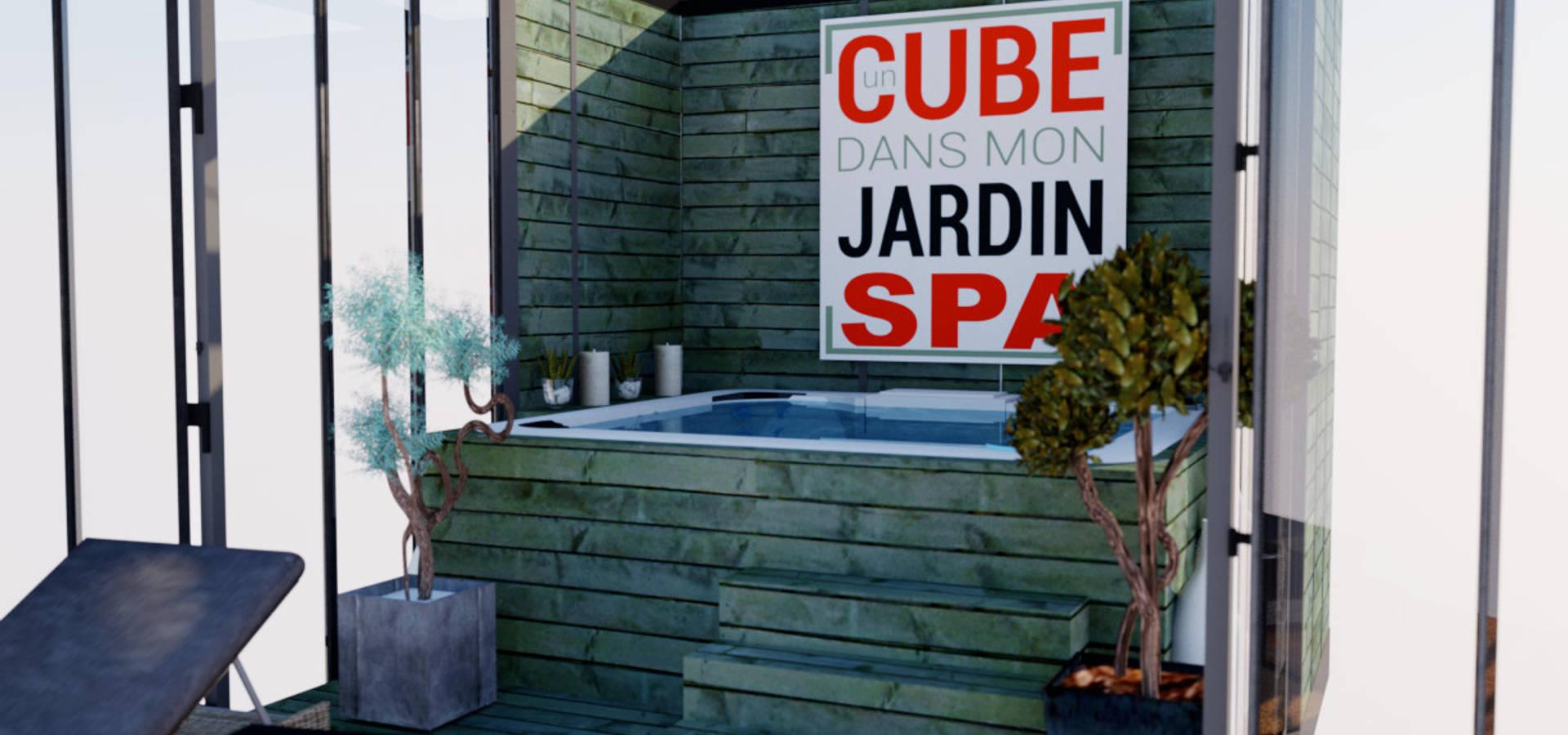un cube dans mon jardin comme spa by un cube dans mon jardin homify. Black Bedroom Furniture Sets. Home Design Ideas